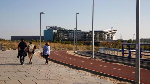 Uno de los nuevos accesos al estadio del Wanda Metropolitano