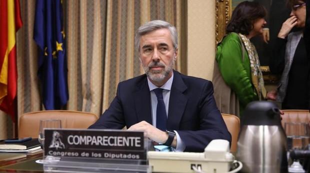 El exministro Ángel Acebes, hoy en el Congreso