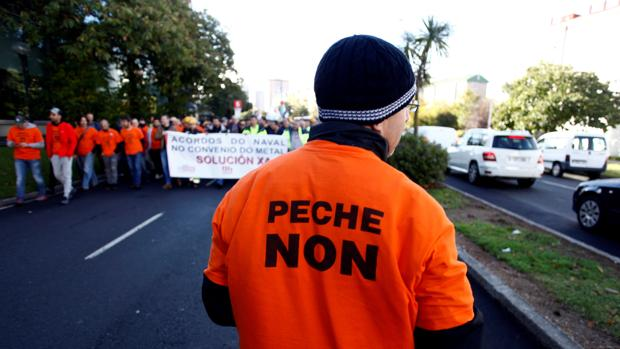 Manifestación en contra del cierre de Alcoa
