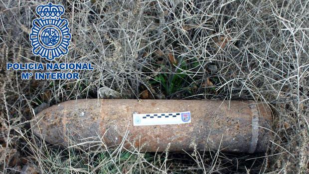 Imagen de uno de los artefactos de la Guerra Civil que han neutralizado los Tedax en Aragón en las últimas semanas