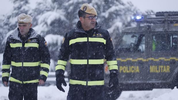 Rafael Dengra, durante las nevadas que colapsaron la AP-6 los días 6 y 7 de enero de este año