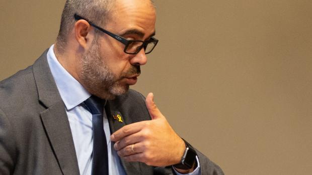 El consejero de Interior, Miquel Buch, en la reunión del Gobierno catalán