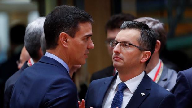 Pedro Sánchez y Marjan Sarec