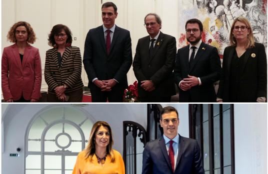 Cuando el Consejo de Ministros se reunió en Sevilla el presidente del Gobierno solo se reunió con la presidenta andaluza.