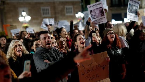 Una de las protestas celebradas ayer en Barcelona para denunciar el caso