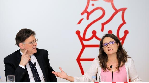 Imagen de archivo de Ximo Puig y Mónica Oltra