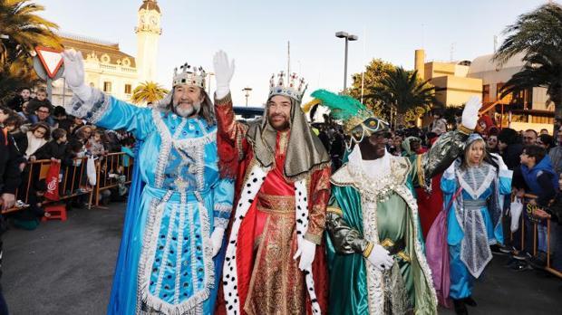 Los Reyes Magos en la cabalgata del año pasado en Valencia