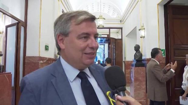 El diputado del PDECat, Jordi Xuclà, en los pasillos del Congreso