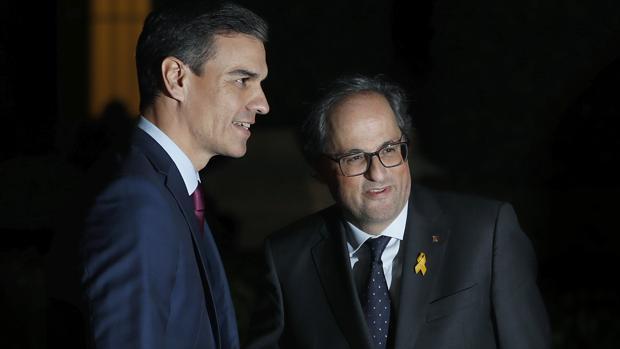 Sánchez y Torra en su encuentro en Barcelona el pasado 20 de diciembre