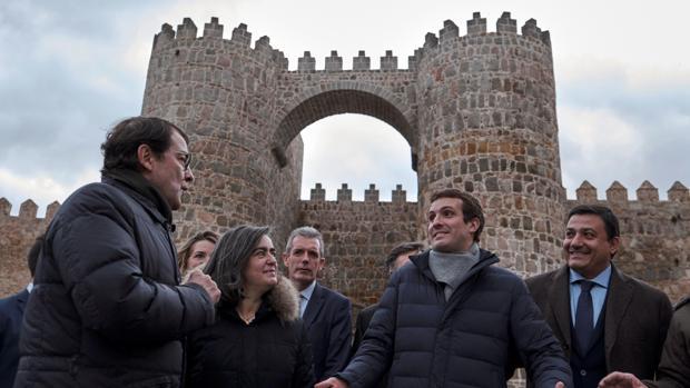 Pablo Casado, en Ávila la semana pasada