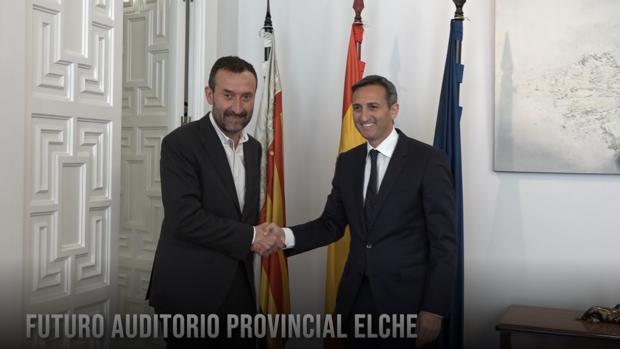 Imagen de la reunión entre Carlos González y César Sánchez