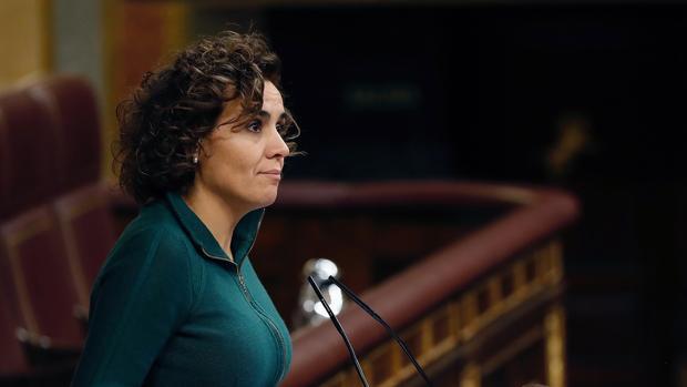 La portavoz del Grupo Popular en el Congreso, Dolors Montserrat, hoy durante su intervención