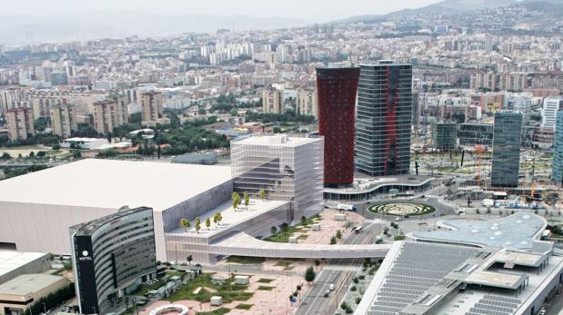 Una recreación del nuevo pabellón de 60.000 metros cuadrados que se levantará al lado del actual recinto