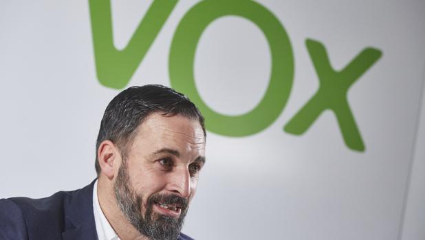Imagen del presidente de Vox durante una entrevista concedida a ABC