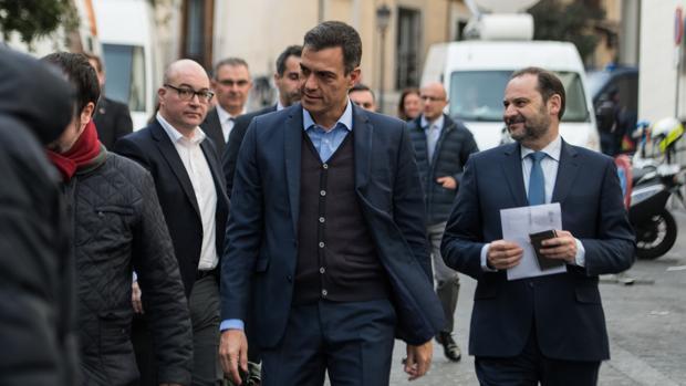 Pedro Sánchez llega a la Ejecutiva Federal del PSOE celebrada ayer
