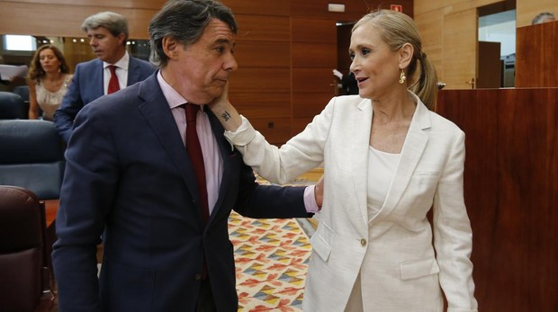 Cristina Cifuentes con Ignacio González