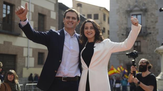 Albert Rivera e Inés Arrimadas, este sábado en el acto de proclamación de la jerezana para las generales