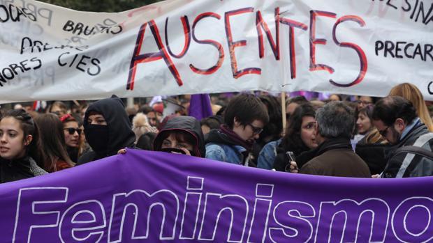 Manifestación con motivo del Día Internacional de la Mujer en Valladolid