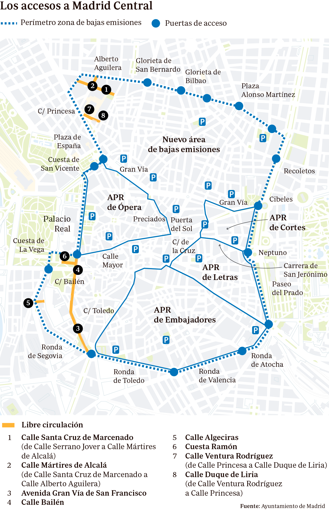 Restricciones Tráfico Madrid Mapa.Madrid Central Entra En Vigor Guia Para Circular Por El