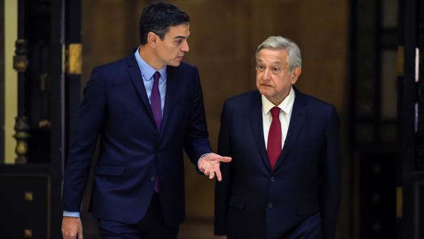 Pedro Sánchez y Andrés Manuel López Obrador, en una imagen de archivo