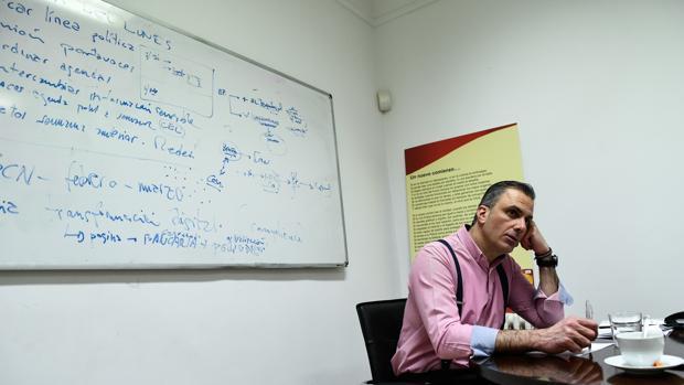 Imagen del secretario general de Vox, Javier Ortega Smith