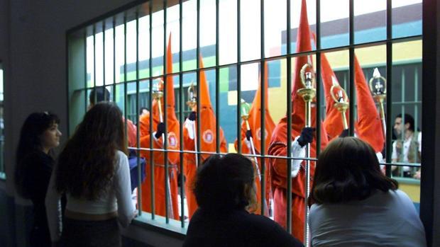 Imagen de archivo de una procesión de Jesús en la Columna en la cárcel de Picassent