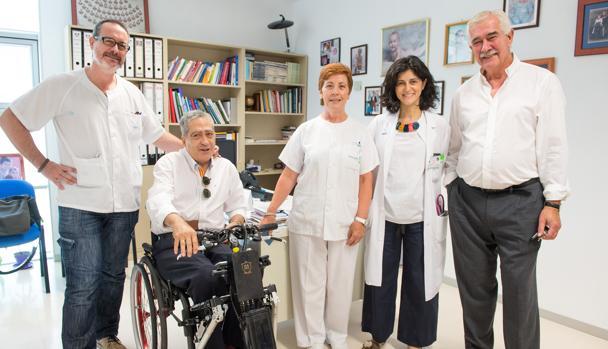 De izq. a dcha. : Eduardo Vargas Baquero, Alberto De Pinto Benito, Rosa María Arriero Espinosa, Silvia Ceruelo y Antonio Sánchez Ramos,