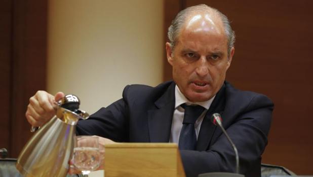 Francisco Camps, en una comisión reciente en Valencia