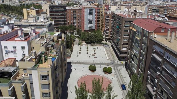 Vista aérea de la plaza del Teniente alcalde Pérez Pillado