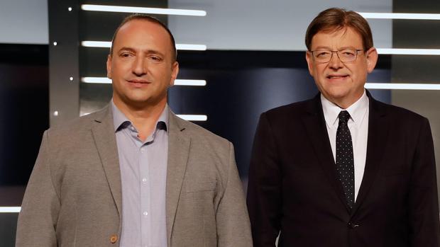 Rubén Martínez Dalmau y Ximo Puig, en una imagen de archivo