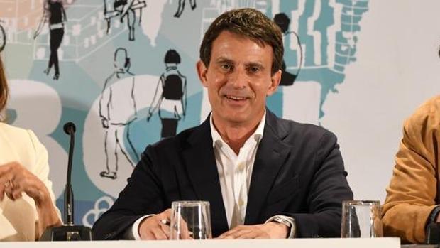 Manuel Valls, en un acto de campaña en Barcelona