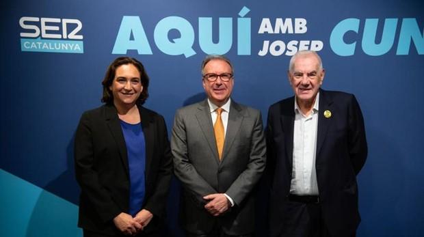 Los candidatos en el programa de Josep Cuní, en la Cadena Ser