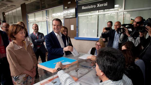 Caballero, durante la votación de este 26-M en Vigo
