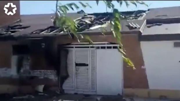 Incendio en una chabola adyacente a la parroquia de Santo Domingo de la Calzada