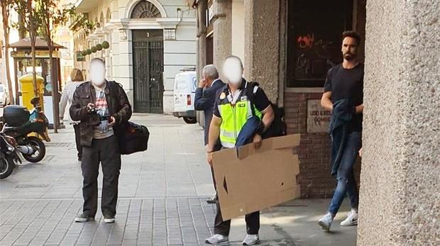 El exjugador del Real Valladolid, en el momento de su detención