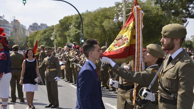 Imagen de la jura de bandera celebrada este sábado