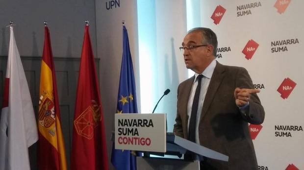 El candidato de Navarra Suma a la alcaldía de Pamplona, Enrique Maya