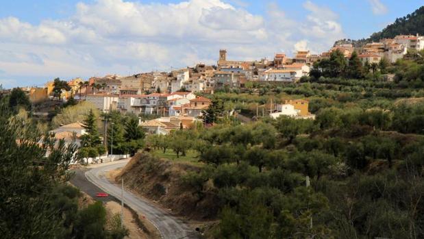 Vista panorámica de Agres (Alicante)