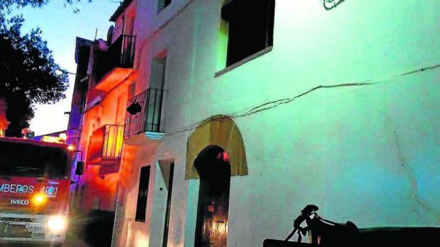 Casa de Chiprana (Zaragoza) en la que se produjo el incendio