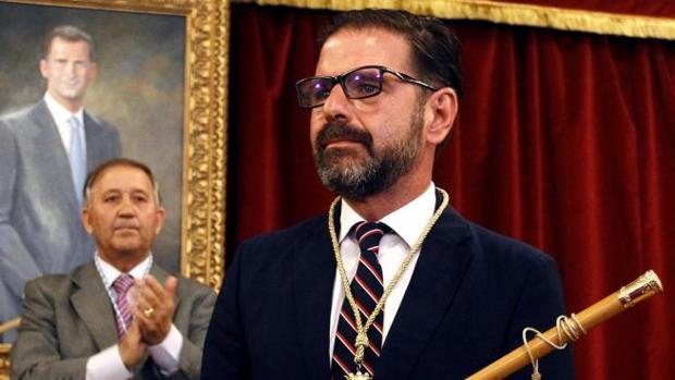 Ángel Mato, tras su investidura como alcalde