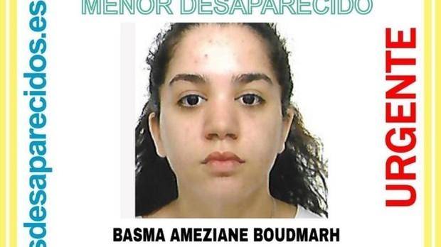 Cartel difundido con la imagen de Basma Ameziane