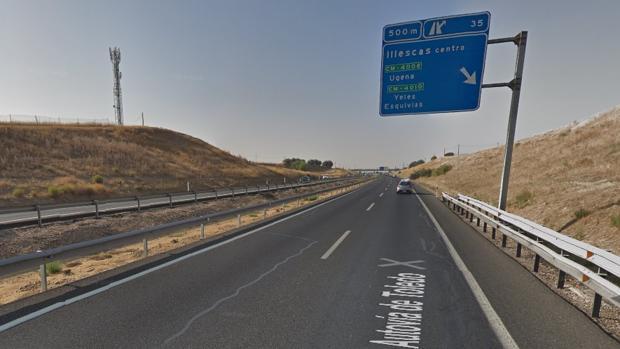 Autovía A42 a su paso por Illescas, lugar donde se produjo el suceso