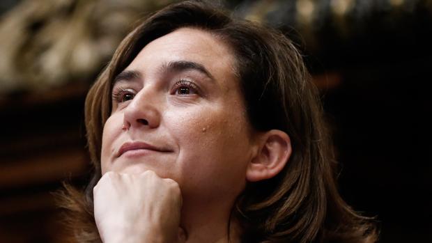 La alcaldesa de Barcelona, Ada Colau, antes de ser investida esta semana