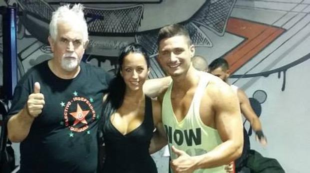 Un entrenador de boxeo, Feluco, Aurah Ruiz y Ángel Vico en 2014