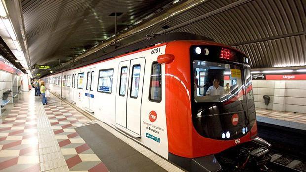 Coche del metro de Barcelona.