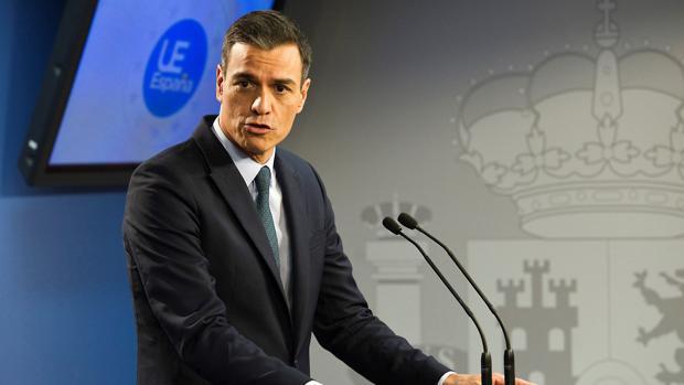 Pedro Sánchez, durante una rueda de prensa en Bruselas