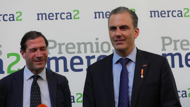 El secretario general de Vox, Javier Ortega Smith, durante la entrega de los premios Merca2