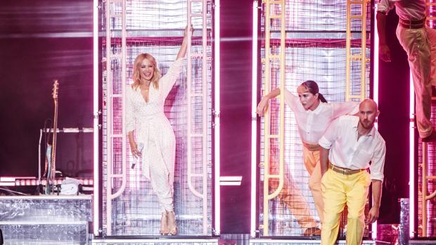 Kylie Minogue, durate su actuación en el Cruïlla