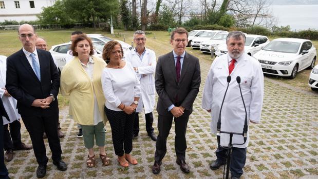 El presidente de la Xunta, este lunes en La Coruña