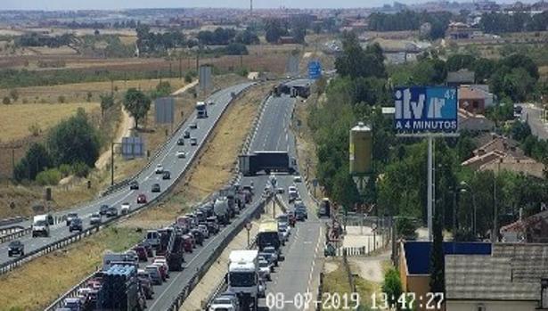 Imagen de la cámara de la DGT del punto del accidente